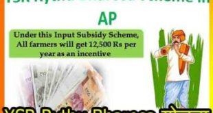 YSR Rythu Bharosa योजना